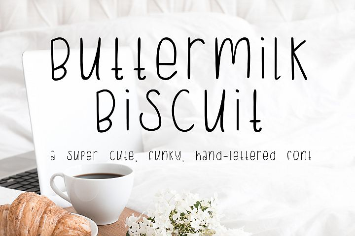 Buttermilk Biscuit Hand-lettered Sans Font