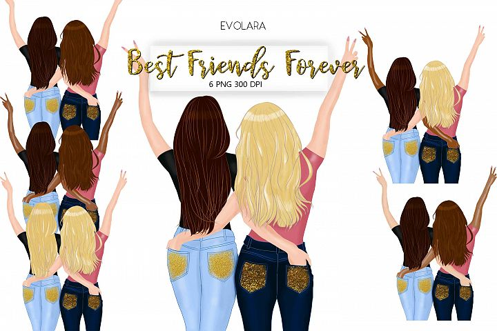 Best Friends Clipart Besties Clipart Friends Clipart BFF