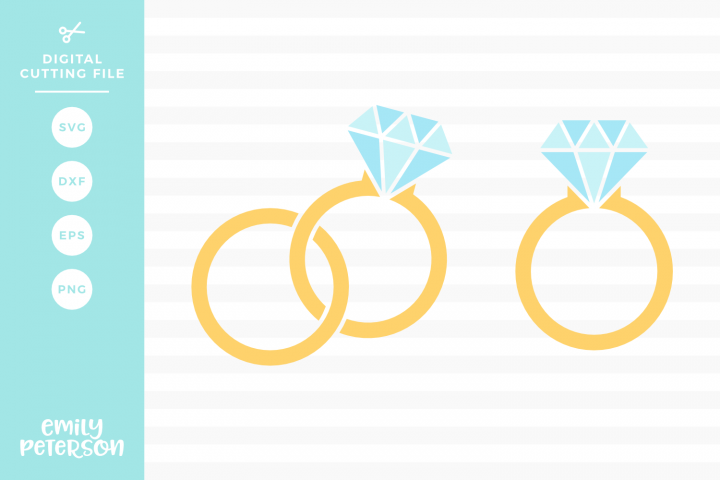 Wedding Rings SVG DXF EPS PNG