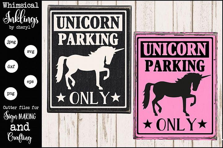 Unicorn Parking Only SVG