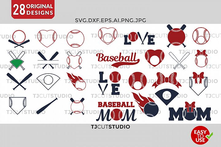 Baseball svg Baseball Monogram Frames - Free Design of The Week