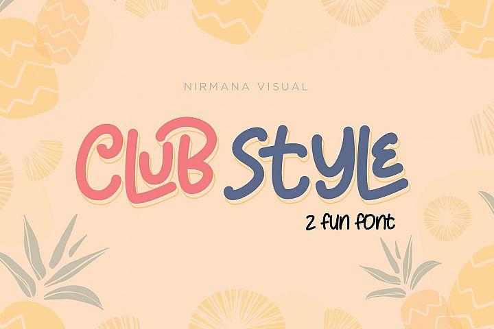 Club Style - 2 Cute Fun Font