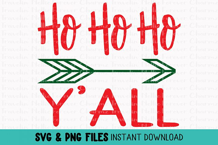 Ho Ho Ho Yall SVG Toddler Kid Baby Christmas Holiday