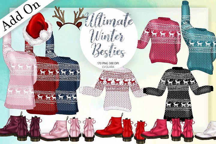 Add On Kit Best Friends Clipart Winter Besties Clipart