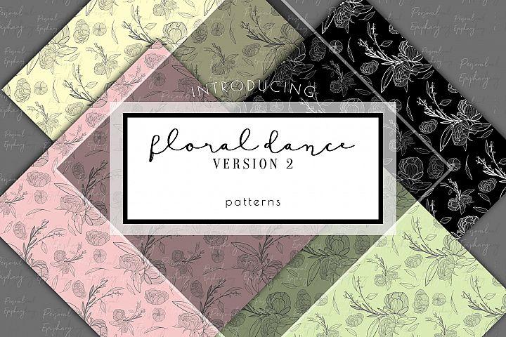 floral digital paper, scrapbooking, flower patterns