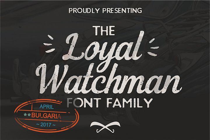 The Loyal Watchman 4 Font Family