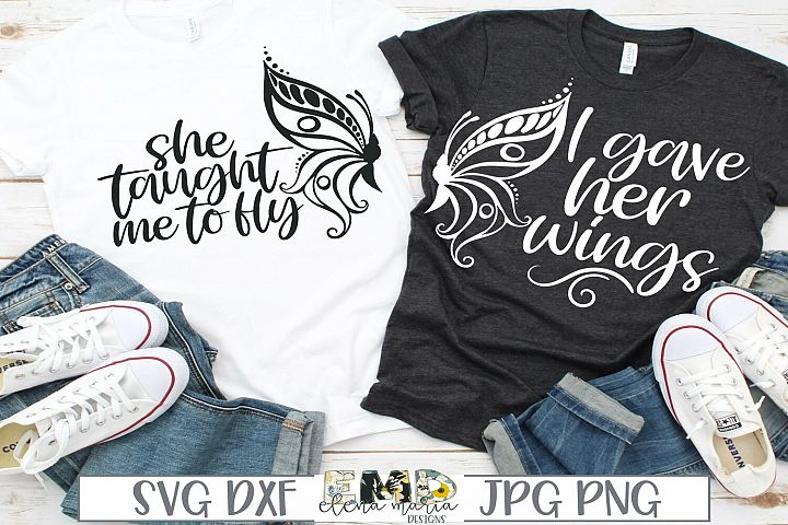 Mother Daughter SVG File | Matching Shirts Svg Butterfly Svg