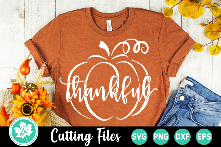 Thankful Pumpkin - A Fall SVG Cut File