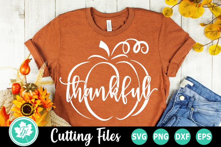 Thankful Pumpkin - A Fall SVG Cut File