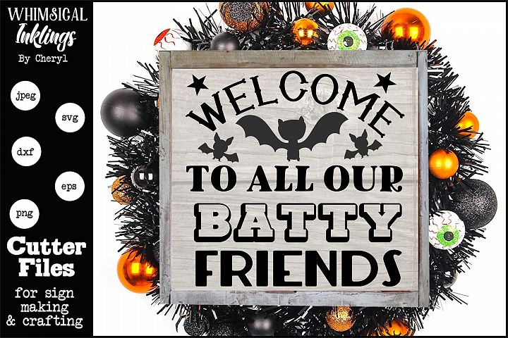 Batty Friends-Halloween SVG