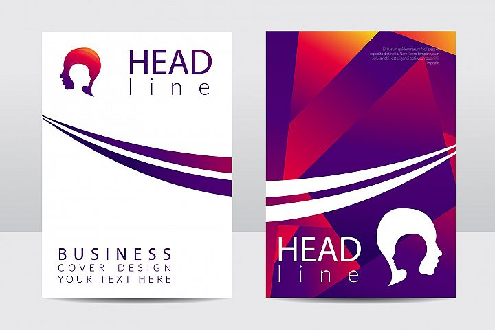 Business cover design. Violet