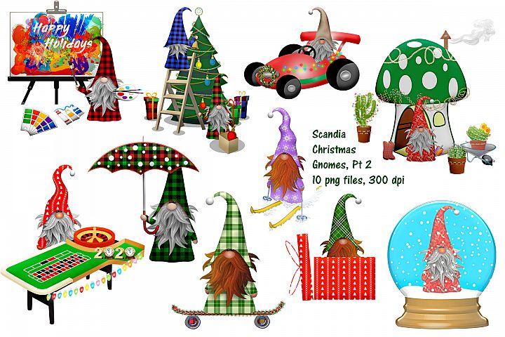 Christmas Gnome Scandia Clip Art, Part Twi