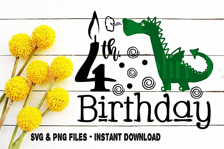 4th Birthday Dragon Svg Forth Birthday Mythical Creature Boy