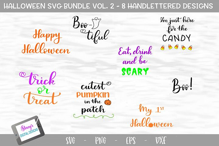 Halloween SVG Bundle - Volume 2 - 8 Handlettered SVG files
