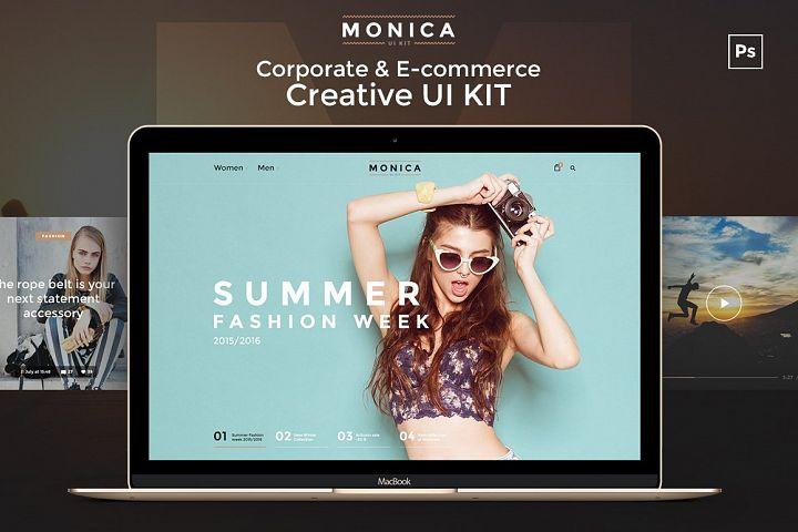 Monica Corporate & E-commerce UI Kit
