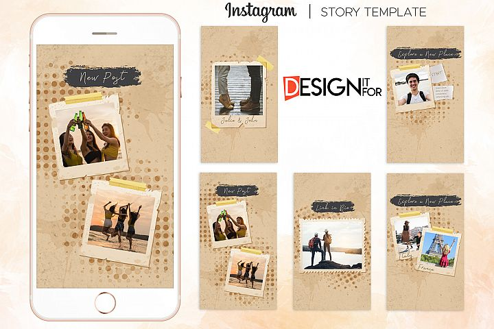 Instagram Story Template, instagram stories