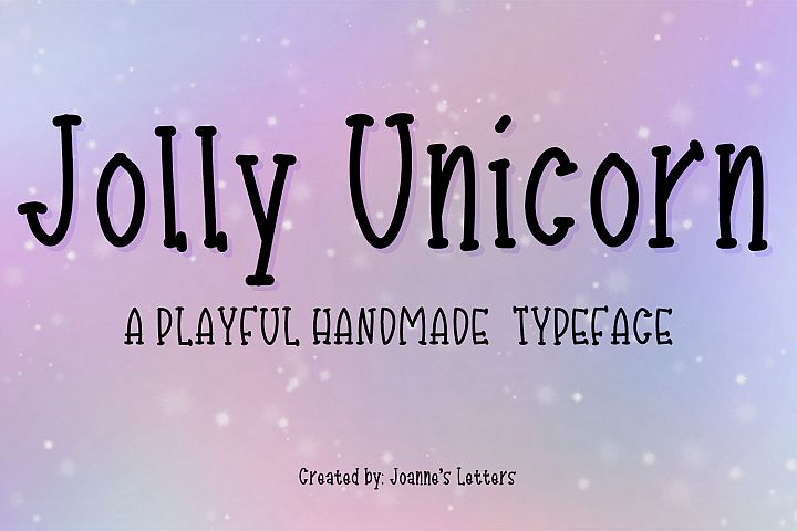 Jolly Unicorn A playful handmade typeface