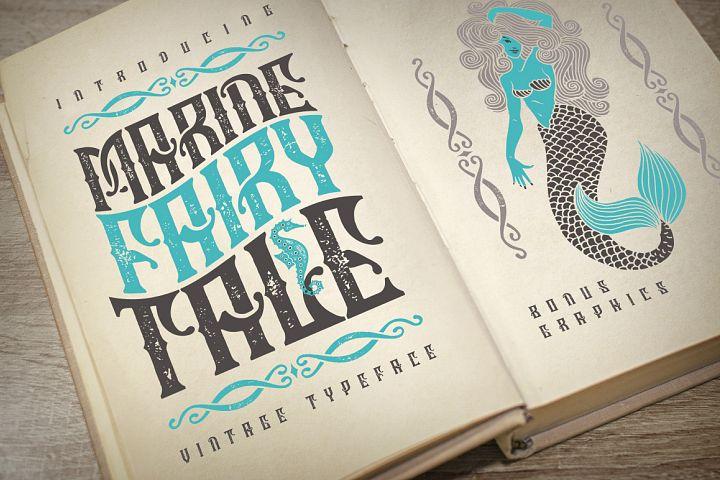 Marine fairytale typeface