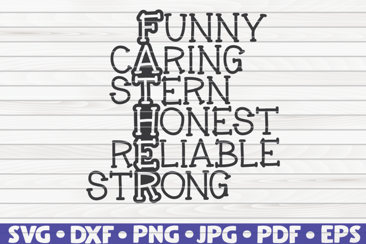 Father Wordart SVG | Fathers Day