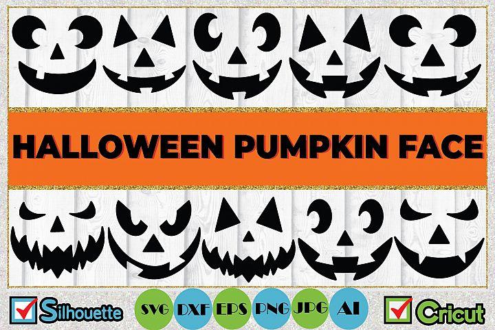 Halloween Pumpkin Face SVG Cut File