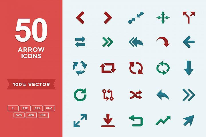 Flat Icons Arrows Set