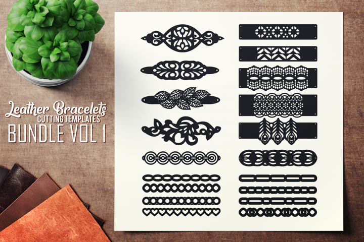 Leather Bracelets SVG - VOL I BUNDLE - Cutting Templates