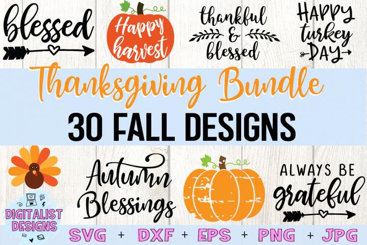 Thanksgiving SVG Bundle   30 Designs