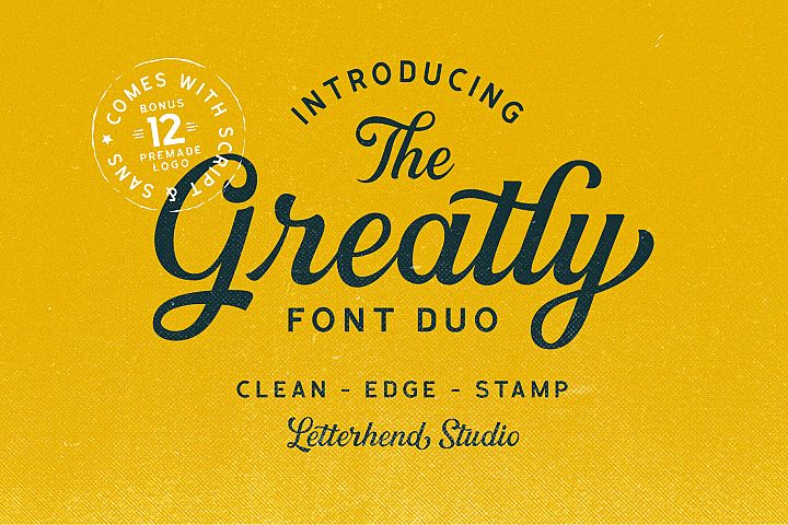 Greatly Font Duo Logo Templates
