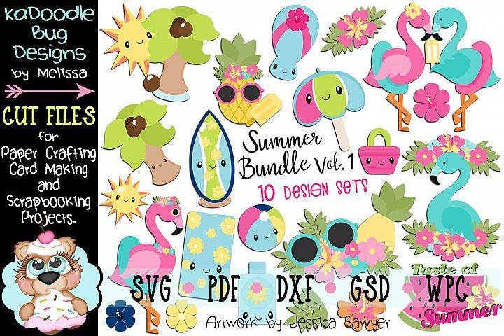 Summer Bundle Set Vol.1 - 10 Cut File Designs - 22 Pieces