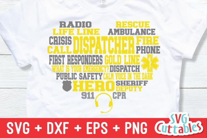 911 Dispatcher Subway Art Heart | SVG Cut File