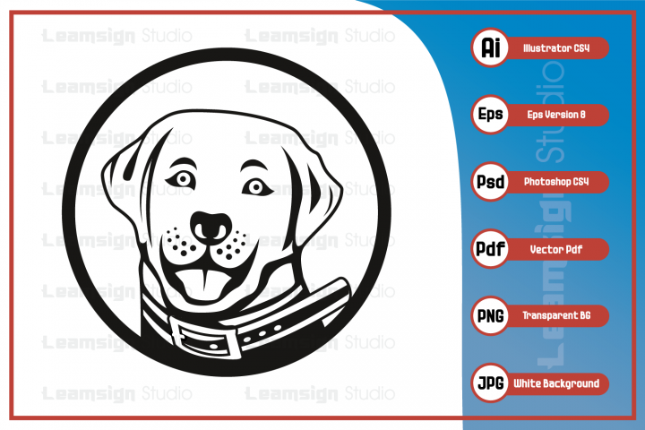 Dog head logo character illustration