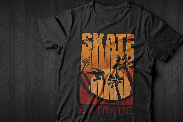 Print for T-shirt. SKATE