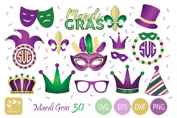 Mardi Gras - Vector Graphic Party Elements