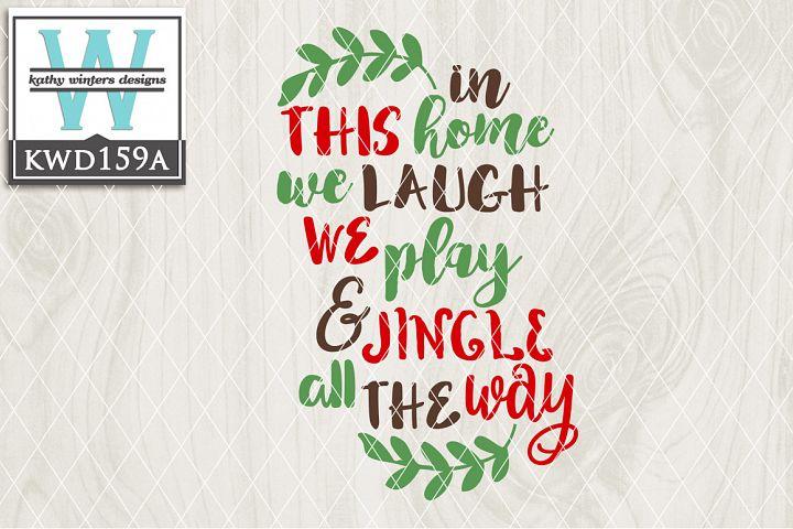 Christmas SVG - Jingle All The Way KWD159A