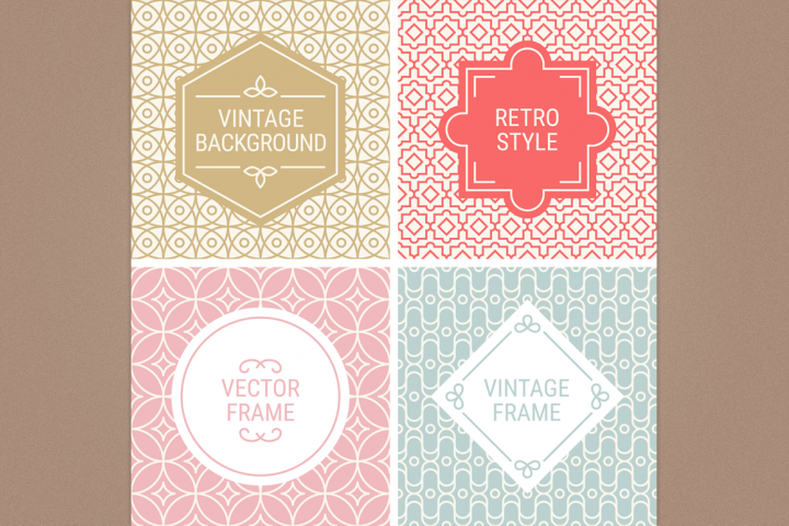 Mono Line Frames and Patterns - Set 13