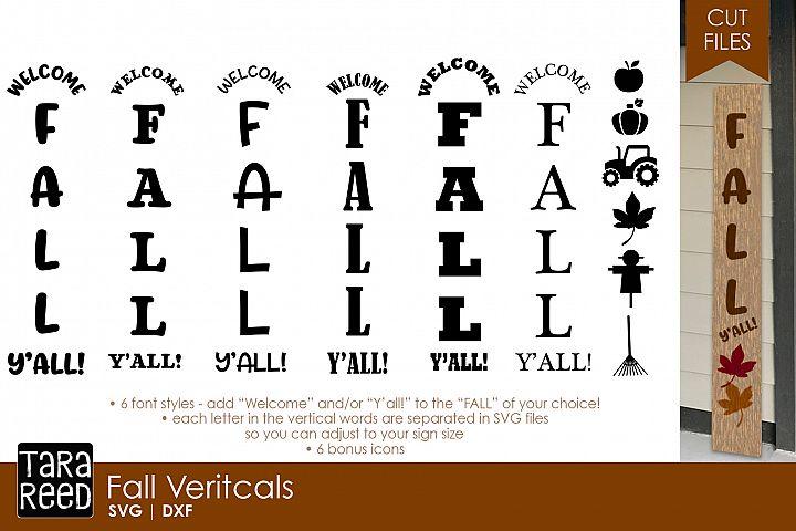 Fall Vertical Sign Bundle