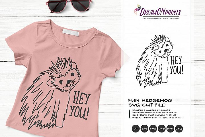 Hey YOU | Fun Hedgehog SVG | Funny Hedgehog Illustration