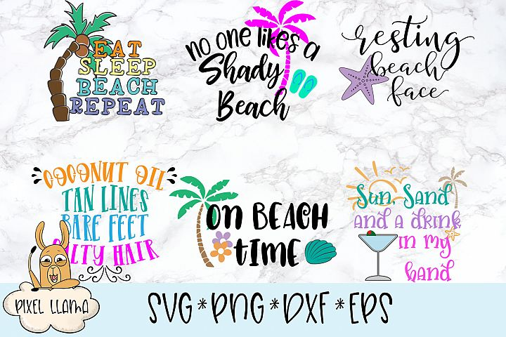 Beach Bundle of 6 SVG Cut File
