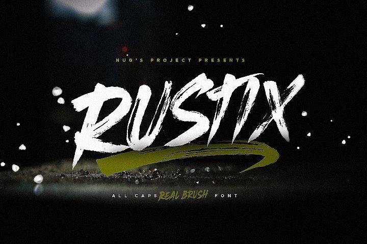 Rustix Brush font