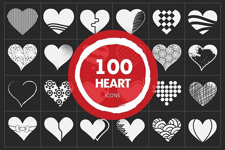 Heart Vector Icons Set