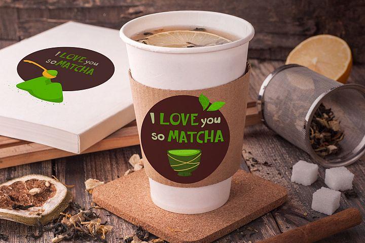 Cute Matcha Tea Cliparts