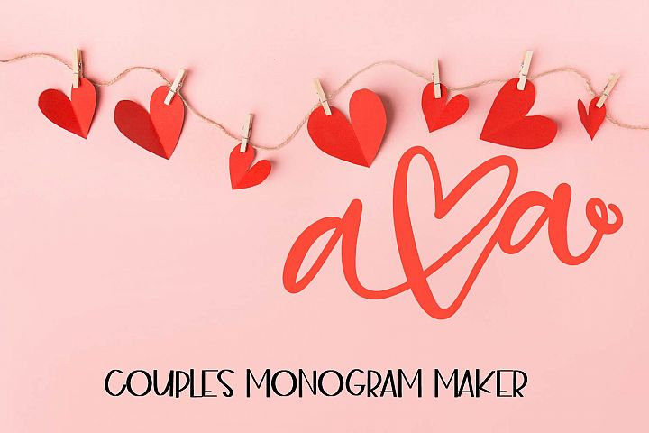 Couples Monograms - Initials perfect for Weddings!