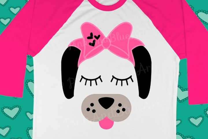 Dog Bow Birthday Cute Popular Girl svg shirt design