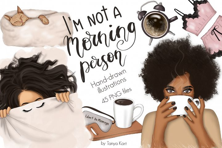 Morning Person Clipart & Patterns