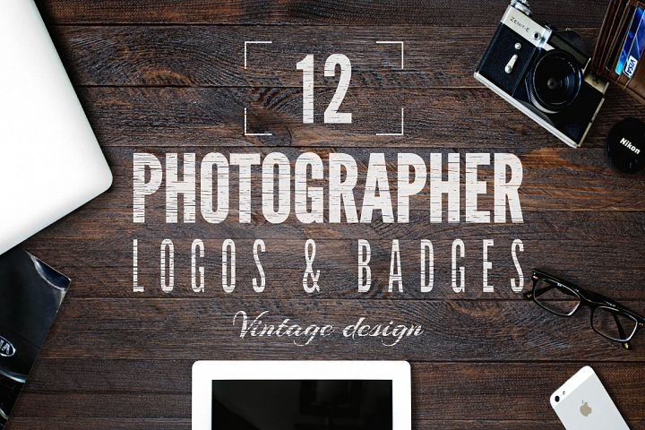Retro Photography Logo Templates Set