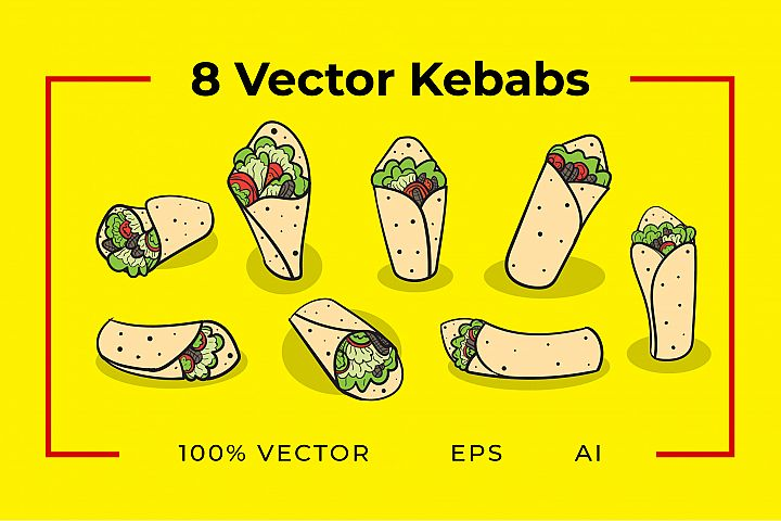 8 Kebab Vectors