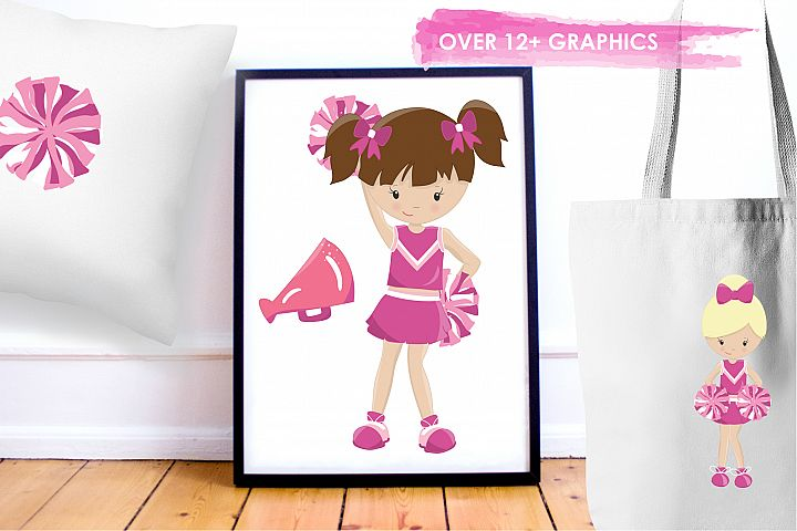 Cheerleaders graphics and illustrations - Free Design of The Week Design 4