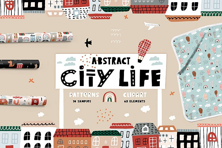 ABSTRACT CITY LIFE graphic set