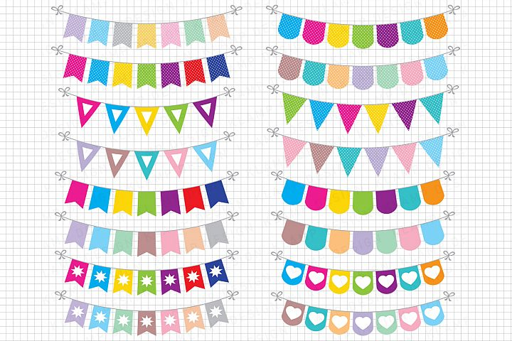 Bunting Banners Clipart / Party Bunting, Banner Clipart