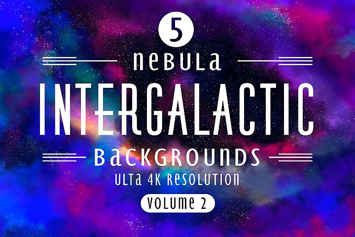 Intergalactic Volume 2 - 5 high resolution backgrounds